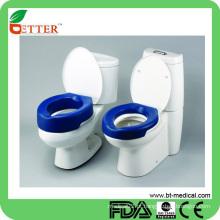 Assento de banheiro fácil de usar e confortável e acolchoado