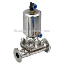 Гигиенический мембранный клапан из нержавеющей стали 316L, пневматический клапан