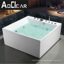 Aokeliya types of small whirlpool jetted bath tub with led lights of different color