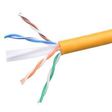 UTP CAT6 LSZH Câble Fluke Testé Soild Nare Copper Yellow