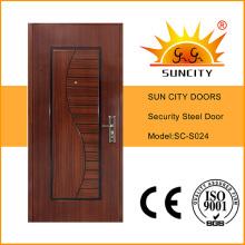 Exterior Stainless Safety Steel Door, Steel Door Frame (SC-S024)