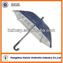 23'' * 8K Auto luz azul reta guarda-chuva aberto