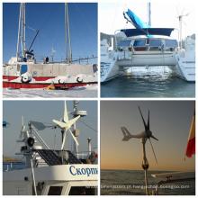 Sistema de vento pequeno para uso de barco com uso de iate
