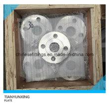 Placa de face plana DIN2545 Pn40 Flange de aço inoxidável