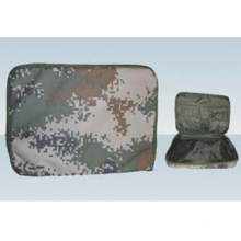 Military hand holding briefcase