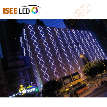 Decoración de contorno exterior LED DMX512 Tubo digital