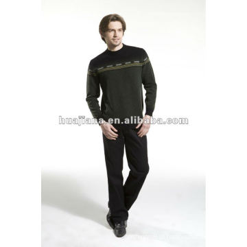 Camisola masculina de moda 100% malha de cashmere
