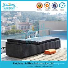 Sailing Rattan Furniture Garden Black Outdoor Wicker Bed