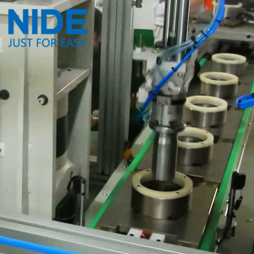 Automatic asynchronous motor stator coil tie machine