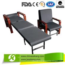 Cama de madeira de luxo do hospital acompanhar cadeira