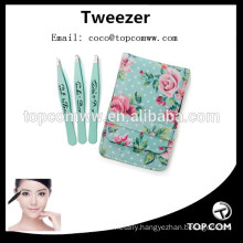 3 pcs Eyebrow Use and Stainless Steel Material tweezers set