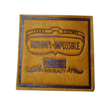 PU Leather Labels for Jeans Bags Clothing (HJL27)