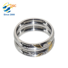New Design Gold Plated Finger Ring Stainless Steel Ring Blanks Made In China