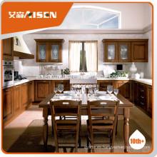 Mueble de cocina aisen de diseño popular Mueble de cocina de madera maciza