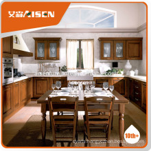 Popular design aisen kitchen cabinet Solid wood Kitchen Cabinet