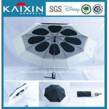 Автоматическое открытие и закрытие двухслойного зонтика с индивидуальным дизайном