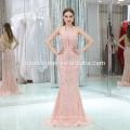 Damen Ärmellose Stickerei Rosa Farbe Maxi Langes Abendkleid 2017