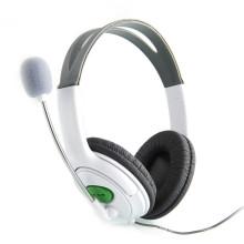 Auriculares auriculares novos de alta qualidade com fone de ouvido microfone para fone de ouvido de jogo XBOX 360 branco