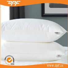 Almohada de cama de hotel relleno de fibra hueca blanca de algodón (DPF0610114)