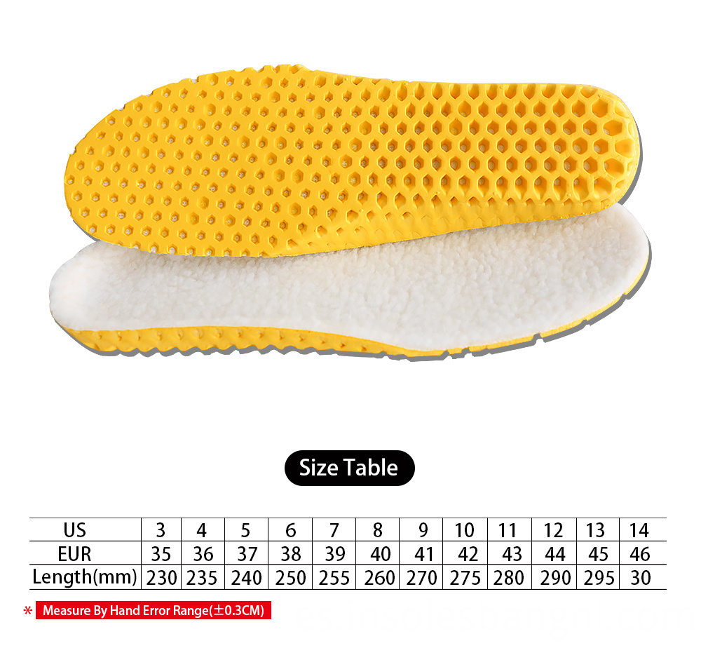 Warm insoles