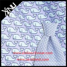 Tela por atacado da baleia da cópia de tela da mão da seda italiana para a gravata