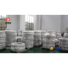 Tube de bobine en acier inoxydable DIN 17458 EN10216-5 1.4301
