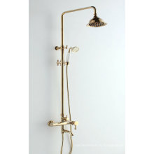 Ванная комната с тремя функциями Набор для душа с золотым цветом