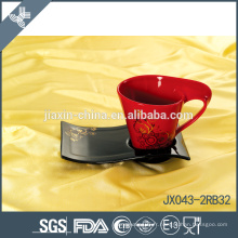 043-2BR32 180CC Tasse à café en céramique et soucoupe
