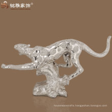 life size high quality poly resin leopard running statue
