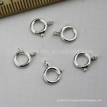 Hot selling 5mm spring sterling silver clasp necklace or bracelet jewelry DIY clasp SEF013