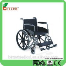 chrome steel frame wheelchair