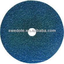 Disco de fibra de respaldo de papel de fibra de alúmina de zirconia de alto grado de 100 mm