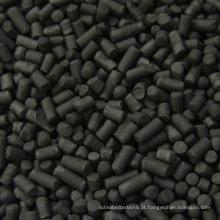 4,0 mm de cinzas baixas Carbono carbônico cilíndrico a base de carvão para alta adsorção de eficiência DX40