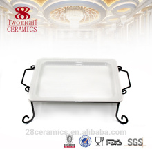 Wholesale unglazed ceramic plate, white dessert plate, flat sushi container