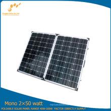 Bewegliches faltendes Solarmodul 100W gemacht durch monokristallines Solarzellen-Silikon (SGM-F-2 * 50W)