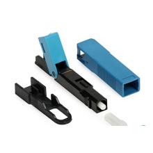 Connecteur rapide sc / apc pré-embouti, connecteur de fibre sc / apc pré-intégré avec multimode