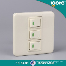 Ivory Color 3 Gang Switch Screw Type