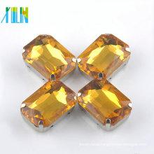 fashion rivoli octagon crystal silver foiling stones with setting