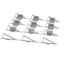 Estructura de montaje solar del techo plano del sistema de panel solar 20KW