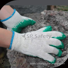 High qualiy White cotton working safety gloves, smooth latex gloves working with better price