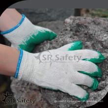 Высокий качественный белый хлопок рабочие защитные перчатки, гладкие латексные перчатки, работающие с лучшей ценой