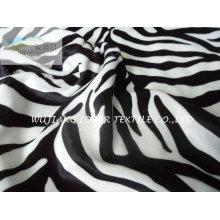 75D moda cebra raya a tela impresa