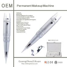 Caneta de máquina de maquiagem permanente cosmética para lábios de sobrancelha