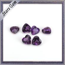 Красивое сердце высокое качество природный Аметист камень для ювелирных изделий