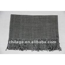 Hommes grille Rectangle tricot écharpe châle de laine