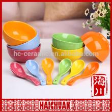 Keramik Pan Brot Platte Keramik bakewave Keramik bunte längliche Schüssel mit Silikon-Deckel
