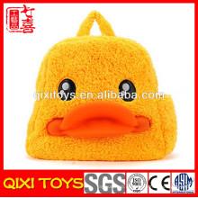 mochila de felpa de pato linda de regreso a la escuela