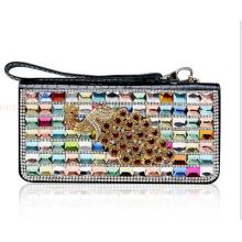 OEM High Quality Elegant Crystal Leather Purse Wallet