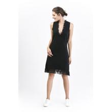 Mode Damen Wollkleid