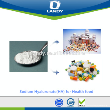Hialuronato de sódio cosmético do ácido hialurónico do produto comestível da categoria da qualidade estável